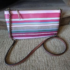 Clutch with Zipper and Strap